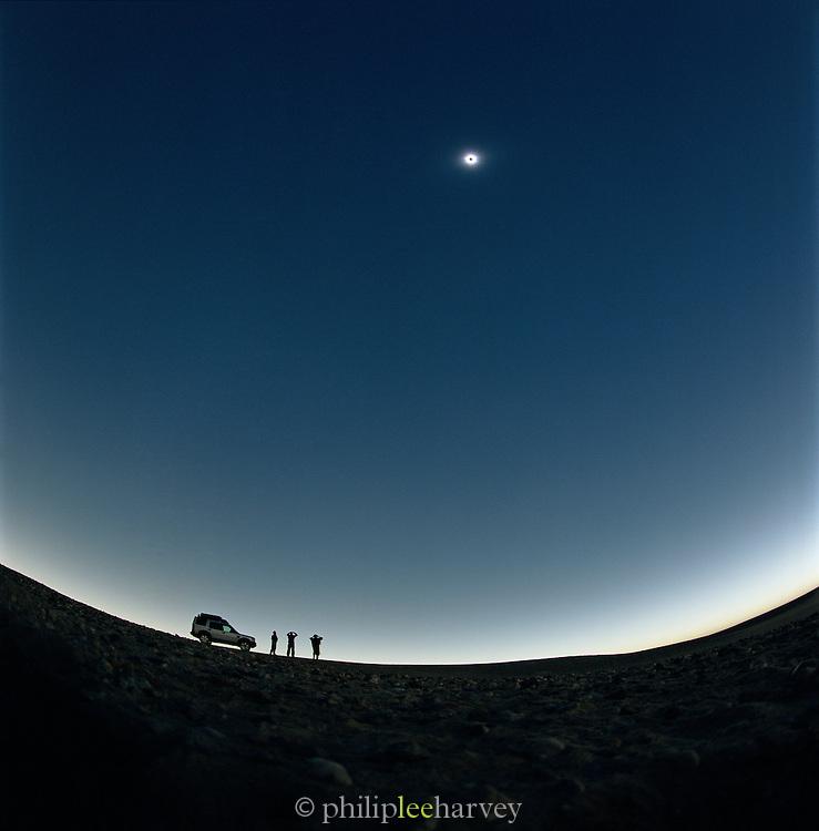 Travellers watching the Solar Eslipse in the Sahara Desert, Libya, 2006