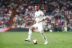 September 22, 2018 - Sergio Ramos of Real Madrid during the La Liga (Spanish Championship) football match between Real Madrid and RCD Espanyol on September 22th, 2018 at Santiago Bernabeu stadium in Madrid, Spain. (Credit Image: © AFP7 via ZUMA Wire)