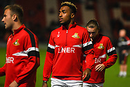 Mallik Wilks of Doncaster Rovers (7) warming up during the EFL Sky Bet League 1 match between Doncaster Rovers and Sunderland at the Keepmoat Stadium, Doncaster, England on 23 October 2018.