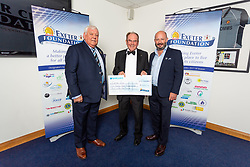 The Exeter Lions Charity receives their cheque - Ryan Hiscott/JMP - 06/08/2018 - RUGBY - Sandy Park - Exeter, England - Exeter Chiefs Season Launch Dinner