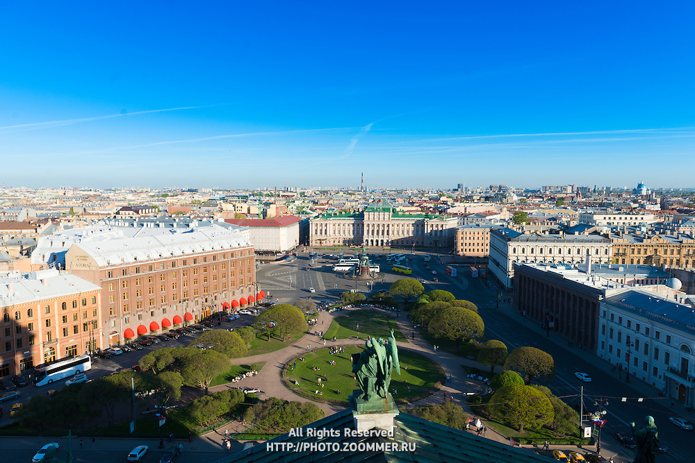 Panorama Of St Petersburg From St Isaak's Cathdral