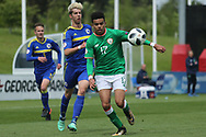 Tyreik Samuel Wright of Republic of Ireland (17) during the UEFA European Under 17 Championship 2018 match between Bosnia and Republic of Ireland at Stadion Bilino Polje, Zenica, Bosnia and Herzegovina on 11 May 2018. Picture by Mick Haynes.