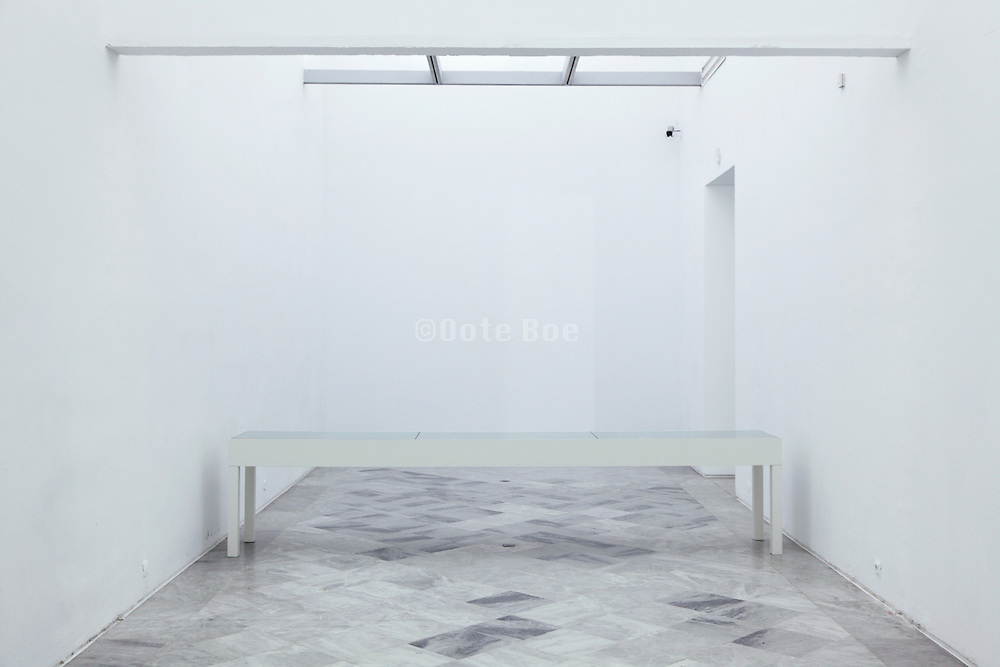 gallery inside the museum of Centro Andaluciuz de Arte Contemporaneo Sevilla