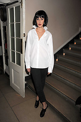 KIMBERLEY STEWART at a Halloween party hosted by Alexa Chung and Browns Focus held at the House of St.Barnabas, 1 Greek Street, London on 31st October 2008.