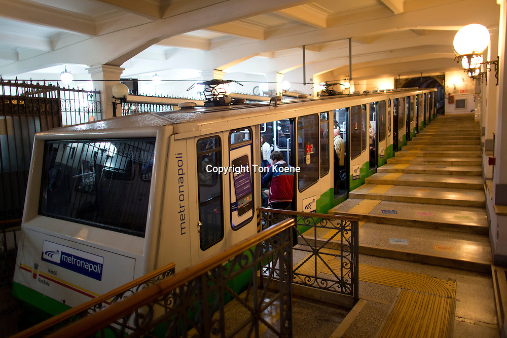 cable car at Augusteo station, naples