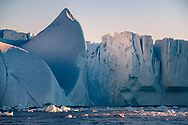 The largest iceberg ever recorded in the northern hemisphere broke off the Petermann Glacier in northwestern Greenland in 2010. It measured 260 square kilometers (100 square miles), about three times the area of Copenhagen, Denmark.