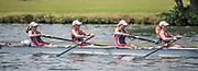 Henley. Berks, United Kingdom. <br /> <br /> St Paul's School Juniors women's JW4+, competing at the 2017 Henley' Women's Regatta. Rowing on, Henley Reach. River Thames. <br /> <br /> <br /> Sunday  18/06/2017<br /> <br /> <br /> [Mandatory Credit Peter SPURRIER/Intersport Images]