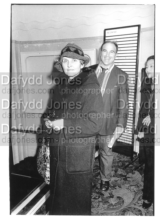 Benjamin Treuhaft and Constancia Romilly at Memorial Celebration for Jessica Mitford, Lyric Theatre, Shaftesbury Avenue 16 Feb 97© Copyright Photograph by Dafydd Jones 66 Stockwell Park Rd. London SW9 0DA Tel 020 7733 0108 www.dafjones.com