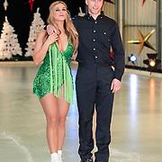 NLD/Utrecht/20121218 - Perspresentatie Sterren Dansen op het IJs 2013, Gaby Blaaser en schaatspartner Benoit