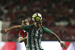 February 3, 2018 - Lisbon, Portugal - Benfica's midfielder Franco Cervi (back) vies with Rio Ave's forward Oscar Barreto during the Portuguese League  football match between SL Benfica and Rio Ave FC at Luz  Stadium in Lisbon on February 3, 2018. (Credit Image: © Carlos Costa/NurPhoto via ZUMA Press)