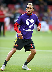 Watford's Roberto Pereyra during the pre-match warm up