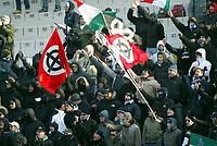 Livorno 11-12-2005<br /> Livorno Lazio<br /> Campionato  Serie A Tim 2005-2006<br /> nella  foto tifosi della Lazio<br /> Foto Snapshot / Graffiti