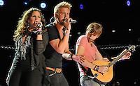 NASHVILLE, TN - JUNE 07:  Hillary Scott, Charles Kelley, and Dave Haywood of Lady Antebellum performs during the 2012 CMA Music Festival on June 7, 2012 in Nashville, Tennessee.  (Photo by Frederick Breedon IV/) Photo © Frederick Breedon. All rights reserved. Unauthorized duplication prohibited.