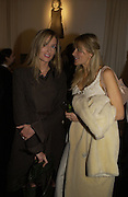 Natasha  McElhone and Lady St. John of Bletso. A photo exhibition in support of Facing the World <br />Hosts: Christopher Bailey with Eliane Fattal, Yasmin Mills, Emily Oppenheimer Turner, Catherine Prevost and Elizabeth Saltzman Walker.  Burberry, 18 - 22 Haymarket, SW1  .  9 November 2005. ONE TIME USE ONLY - DO NOT ARCHIVE © Copyright Photograph by Dafydd Jones 66 Stockwell Park Rd. London SW9 0DA Tel 020 7733 0108 www.dafjones.com