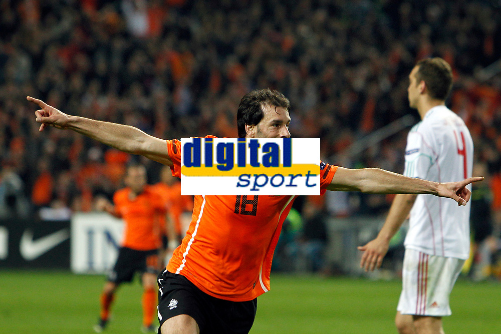 AMSTERDAM - voetbal, interland ek-kwalificatie , Nederland - Hongarije , 29-03-2011 Amsterdam Arena ,  seizoen 2010 - 2011 , Ruud van Nistelrooy na zijn treffer (3-2).