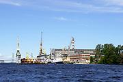 The Neva river cruise, St Petersburg, Russia