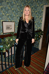 Marissa Montgomery at a party to launch the Barr & Bass 'Aya' brand at Mark's Club, 46 Charles Street, Mayfair, London England. 14 December 2016.