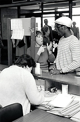 Signing at City Hospital, Nottingham UK 1985