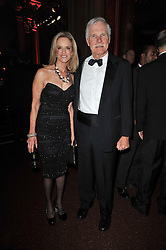 TED TURNER and ? at a gala eveing to celebrate the 80th birthday of former Soviet leader Mikhail Gorbachev held at The Royal Albert Hall, London on 30th March 2011.