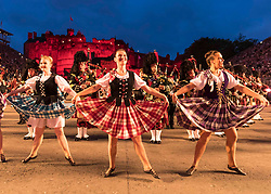 The 2019 Royal Edinburgh Military Tattoo launches its 2019 show Kaleidoscope. Staged on the Edinburgh Castle Esplanade between 2-24 August, the show marks its 69th year.<br /> <br /> Pictured: The Tattoo Dance Company and The Massed Pipes & Drums