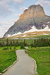Mountain path, Hidden Lake Trail, Mt. Clemmens, Glacier National Park
