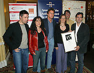 The cast, director and production team involved in the film 'My Summer Of Love' celebrate winning the prestigious Michael Powell Award for Best New British Feature Film at the 2004 Edinburgh International Film Festival which ends today. Amongst those pictured are lead actor Paddy Considine (left) and director Pawel Pawlikowski.