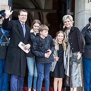NLD/Amsterdam/20180203 - 80ste Verjaardag Pr. Beatrix, Prins Constantijn , Prinses Laurentien, Gravin Eloise, Graaf Claus- Casimir, Gravin Leonore
