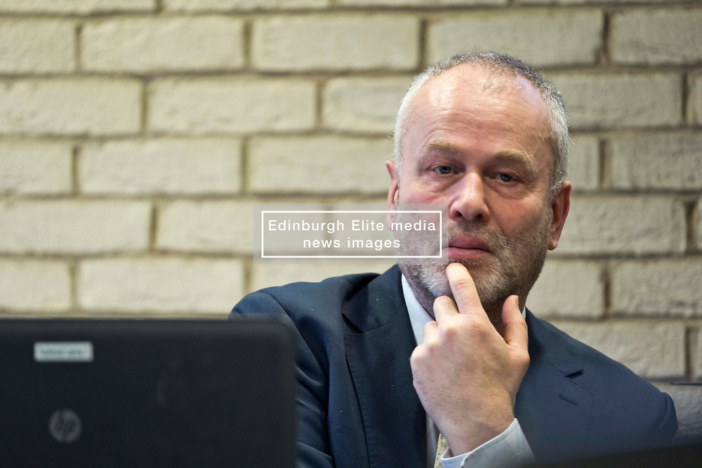 Pictured: John Ireland, Scottish Fiscal Commission Chief Executive<br /> <br /> The Scottish Fiscal Commission team, led by Dame Susan Rice, met journalists today and gave a short presentation on their five-year economic forecasts following the Scottish budget announcement.<br /> <br /> Ger Harley   EEm 13 December 2018
