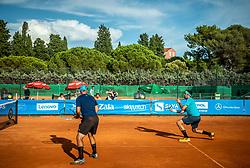 Marko Skrjanc and Blaz Rucigaj during Tennis tournament of Slovenian Recreational players, on August 16, 2020 in SC Marina, Portoroz / Portorose, Slovenia. Photo by Vid Ponikvar / Sportida