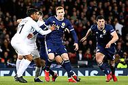 Scotland defender David Bates (4) (Hamburger SV) and Scotland defender Scott McKenna (5) (Aberdeen) ready for the corner during the UEFA Nations League match between Scotland and Israel at Hampden Park, Glasgow, United Kingdom on 20 November 2018.