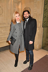 KATHERINE JENKINS and ANDREW LEVITAS at the opening night of Amaluna by Cirque Du Soleil at The Royal Albert Hall, London on 19th January 2016.