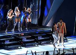 LOS ANGELES - AUGUST 27: Fifth Harmony and Gucci Mane (Front) perform on the 2017 'MTV Video Music Awards' at The Forum on August 27, 2017 in Los Angeles, California. (Photo by Frank Micelotta/PictureGroup)