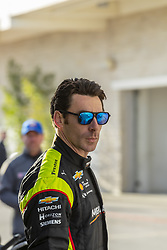 February 12, 2019 - Austin, Texas, U.S. - SIMON PAGENAUD (22) of France prepares to practice for the practice for the IndyCar Spring Test at Circuit Of The Americas in Austin, Texas. (Credit Image: © Walter G Arce Sr Asp Inc/ASP)