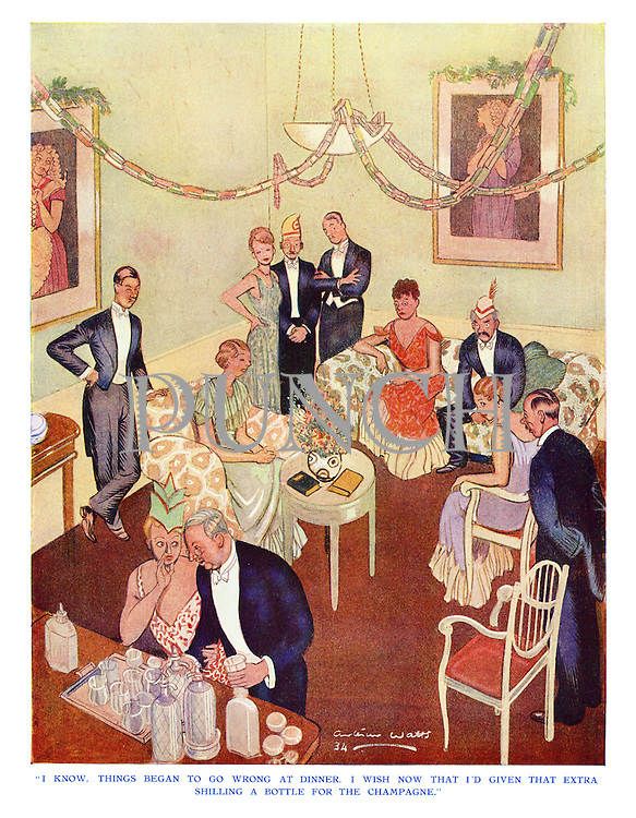 """""""I know, things began to go wrong at dinner. I wish now that I'd given that extra shilling a bottle for the champagne."""""""