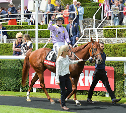 29 July 2021 - The QATAR Goodwood Festival Ladies Day at Goodwood Racecourse, West Sussex.<br /> Picture Shows - Thea Gosden Hood.<br /> <br /> NON EXCLUSIVE - WORLD RIGHTS