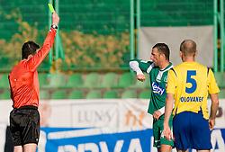 Referee Darko Ceferin and Sebastjan Cimerotic at football match of 16th Round of First Slovenian League between NK Olimpija and Luka Koper, on October 31, 2009, in ZAK, Ljubljana, Slovenia.  Koper won 1:0. (Photo by Vid Ponikvar / Sportida)