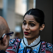 London,England,UK. 6th April, 2017. Freida Pinto attends the UK premiere of Sky Original Production Guerrilla at The Curzon,Bloomsbury,London,UK. by See Li
