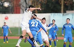 Nusmir Fajic #17 of Mura 05 vs Alen Jogan #27 of Gorica during football match between ND Gorica and ND Mura 05 in 20th Round of PrvaLiga NZS 2012/13 on November 24, 2012 in Nova Gorica, Slovenia. (Photo By Ales Cipot / Sportida)
