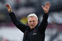 Football - 2020 / 2021 Premier League - Final Round - West ham United vs Southampton - London Stadium<br /> <br /> West Ham United manager David Moyes applauds the fans at the end of their 3-0 victory ensuring Europa League football for next season.<br /> <br /> COLORSPORT/ASHLEY WESTERN