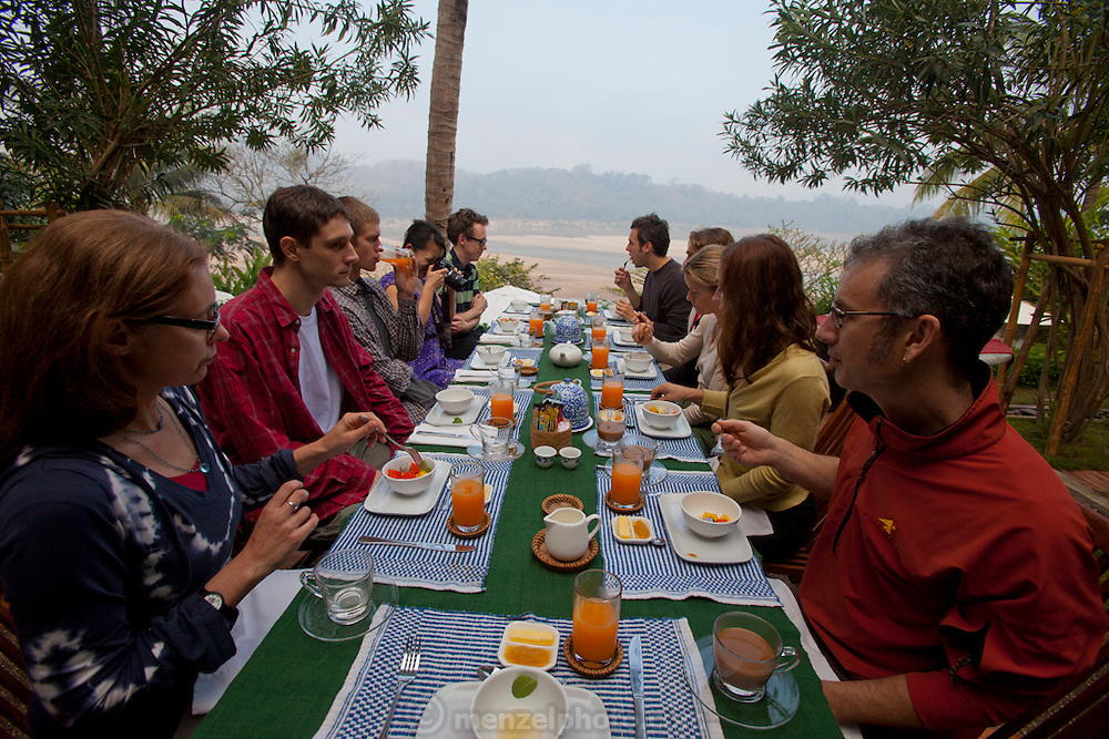 Mekong Estates rental property on the Mekong just south of Luang Prabang, Laos in Ban Saylom Village..