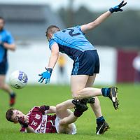 St. Joseph's Doora-Barefield's Eoghan Thynne and Kildysart's Kieran Leahy challenge for the ball
