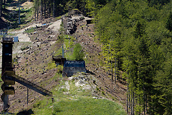 First day of reconstruction of Bloudkova velikanka ski jumping hill in Planica, on July 12, 2011, in Planica, Slovenia. (Photo by Vid Ponikvar / Sportida)