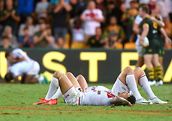December 2, 2017 - Brisbane, Australie - Rugby League World Cup - England vs Australia - Land Park, Brisbane, Australia - December 2, 2017. England players react after losing to Australia in the final. (Credit Image: © Panoramic via ZUMA Press)