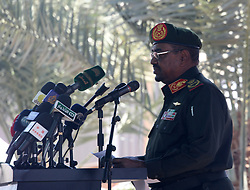 File photo dated January 8, 2017 of Sudanese President Omar al-Bashir attending a ceremony in Hasahisa, Sudan. President Omar al-Bashir has been detained and a military council will run the country for a two-year transitional period, Sudan's defense minister announced Thursday, bringing an end to Bashir's 30-year reign. Photo by Depo Photos/ABACAPRESS.COM