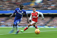 Ngolo Kante of Chelsea (l) and Alexis Sanchez of Arsenal in action. Premier league match, Chelsea v Arsenal at Stamford Bridge in London on Saturday 4th February 2017.<br /> pic by John Patrick Fletcher, Andrew Orchard sports photography.