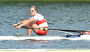 Trackai. LITHUANIA. CAN BW1X, Carling ZEEMAN, qualifies for the sunday final in the women's single sculls at the 2012 FISA U23 World Rowing Championships,  Lake Galve.    16:05:31  Saturday  14/07/2012 [Mandatory Credit: Peter Spurrier/Intersport Images]..Rowing. 2012. U23.