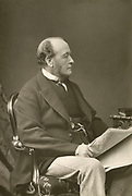 'Gathorne Gathorne-Hardy, 1st Earl Cranbrook (1814-1906) English Conservative statesman pictured c1890.'