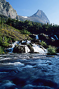 Red Rock Falls in Glacier National Park