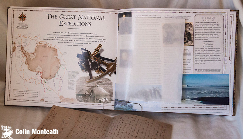 EXPLORATION EXPERIENCE -The Royal Geographic Society, Beau Riffenburgh, 2007, large format hardback, VG+ in decorated slipcase, Cd in front pocket, a remarkable piece of work ideal to inspire a teenager with the journeys of polar, mountain and african explorers - each double page spread has pockets with reproduction letters, maps etc...terrific $75