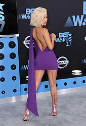 June 25, 2017 - Los Angeles, California, U.S. - Chris Brown's Ex girlfriend model KARRUECHE TRAN arrives for the 2017 BET Awards at the Microsoft Square. (Credit Image: © Birdie Thompson/AdMedia via ZUMA Wire)